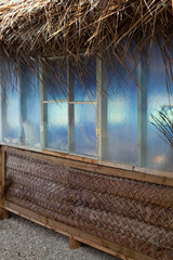 fare polynesien, construction vegetale