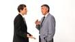 Businessman explaining something to his employee