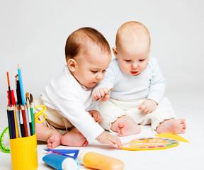 Two creative babies