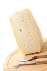 formaggio, tagliere, coltellini