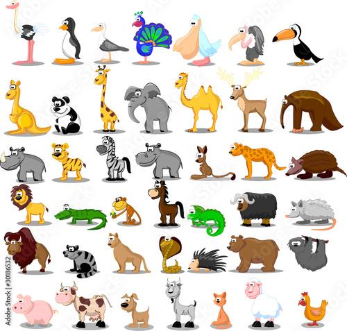 экстра большой сет животных