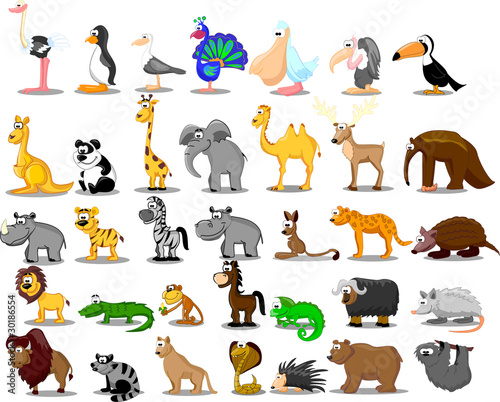 очень большой набор животных