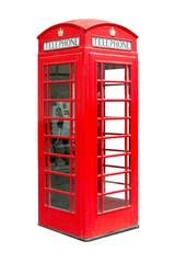 traditional British public phonebox