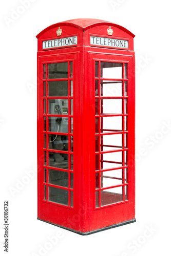 traditional British public phonebox