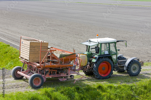 tractor on field, Netherlands