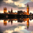 Big Ben in the evening, London, UK