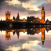 Big Ben am Abend, London, UK