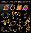 Vintage Gold Design Element