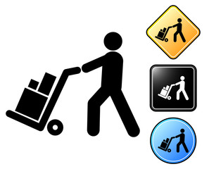 Logistics pictogram and signs