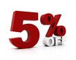5 Percent off.