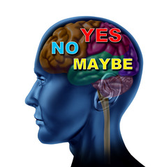 brain decision yes no maybe choice confusion answers