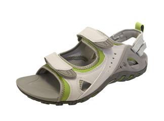Summer sandal on white background