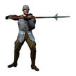 Spearman Receiving, 3D render