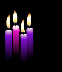 Realistic advent candles vector