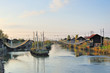 Italy Cesenatico canal fishing net