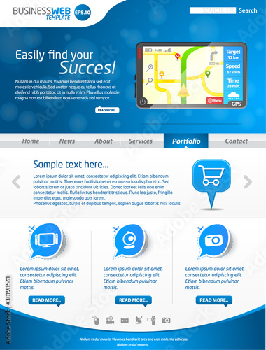 Blues business website template 2