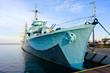 Fototapete Battleship - Blau - Andere Boote