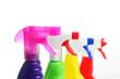 Reinigungsmittel in Sprühflaschen