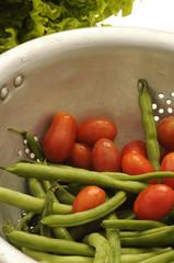 Chaucha y tomate