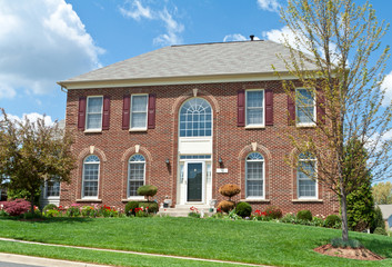 Colonial Brick Single Family House Home MD USA