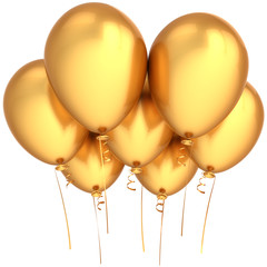Party balloons total golden. Wealth luxury celebration concept