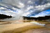 Geothermal landscape poster