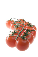 Tomatoes isolated over white