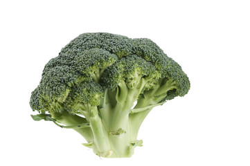 Broccoli  raw food isolated over white background.