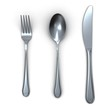 3d fork spoon and knife