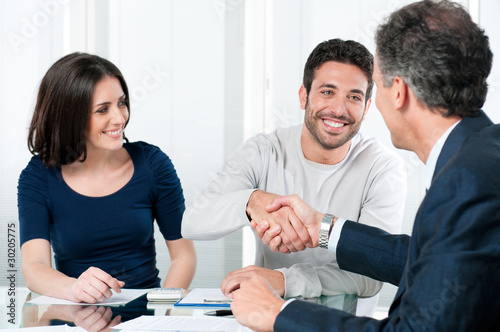 Leinwanddruck Bild Successful financial plans