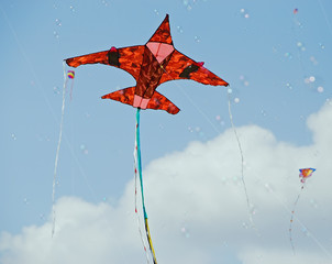 "Red ""Fighter Jet"" Kite"