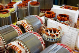 industrial production of electric motors, armatures with inserte poster