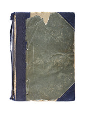 Old book with frayed cloth hardcover.