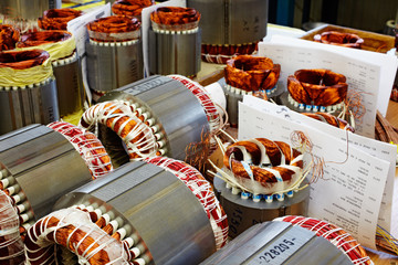industrial production of electric motors, armatures with inserte