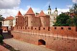 Fototapety Barbican - Fortified medieval outpost - Warsaw  / Poland