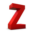 lettre Z rouge