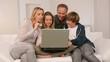 Family doing shopping on internet