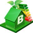 Maison verte de classe B (détouré)
