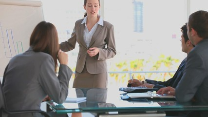 Business woman making a presentation