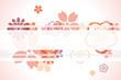 Decoration cherry blossoms frame
