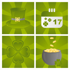 set of 4 st. patrick's day backgrounds