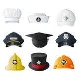 Different Profession Hats poster