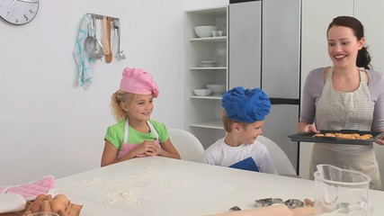 Cute children eating