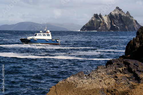 Boat in Dramatic Scenery