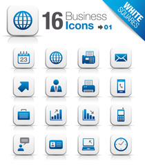 White Squares - Office and Business icons 01