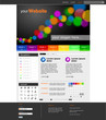 "Website Template ""Rainbow-Dots"" Vektoren"