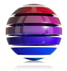 3d sphere design. Made of ring elements. 3d render