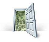 Open door to wealth poster