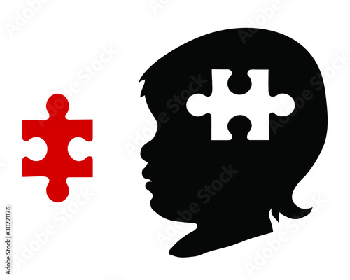 Child with puzzle piece