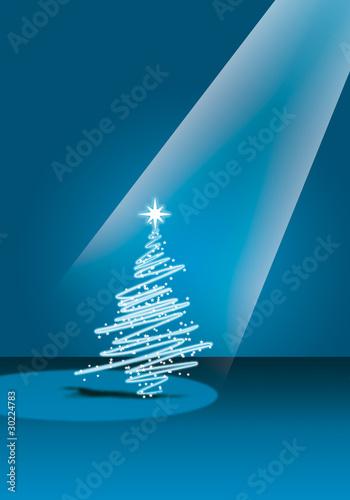 Fotobehang Licht, schaduw Natale blu